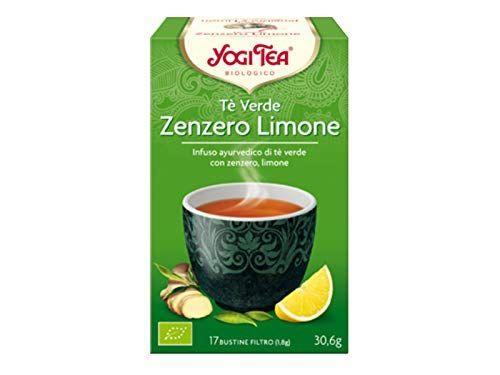 Yogi Tea Infusión de Hierbas Te Verde, Jengibre y Limón – 17 bolsitas