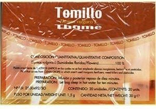 Infusiones Tomillo 20 unidades de Soria Natural