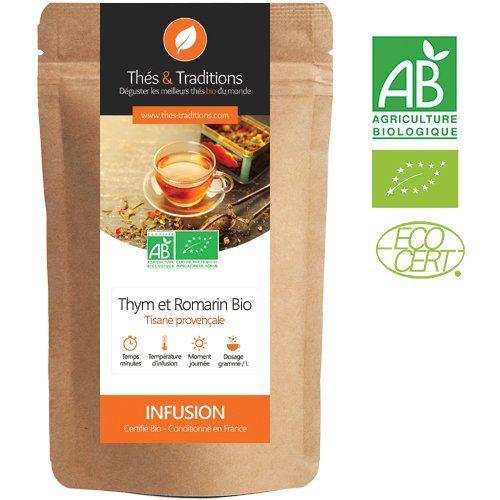 Té de hierbas de romero, tomillo y limón bio | 100g