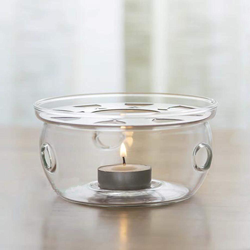 Calentador Té.Regalos Candelita 200-600ML Tetera de Cristal (Cristal)