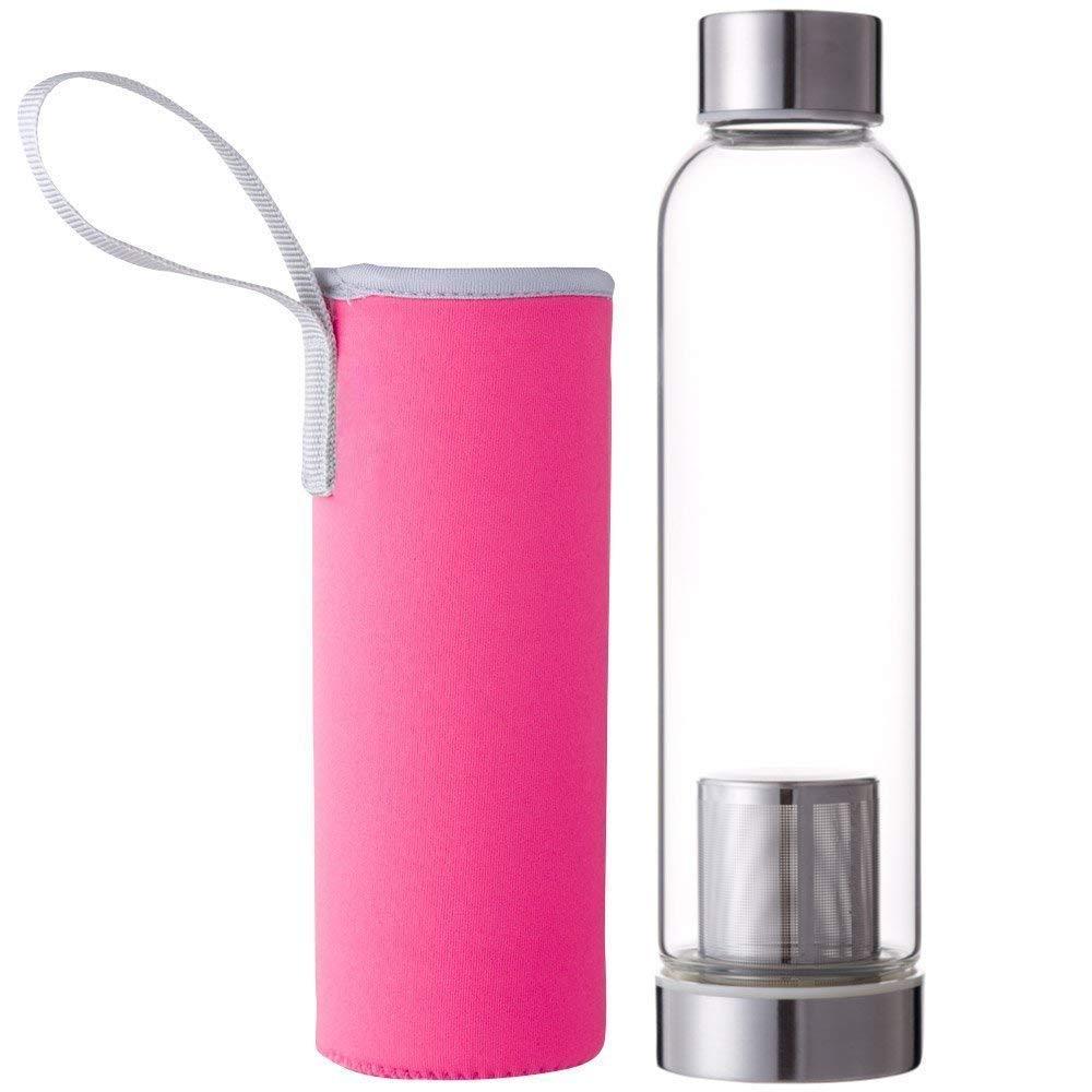 Botella con infusor de té y protector de funda de nailon-Filtro