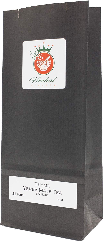 Tomillo Orgánico y la Yerba Mate bolsas de té de hierbas (paquete de 25, sin blanquear)