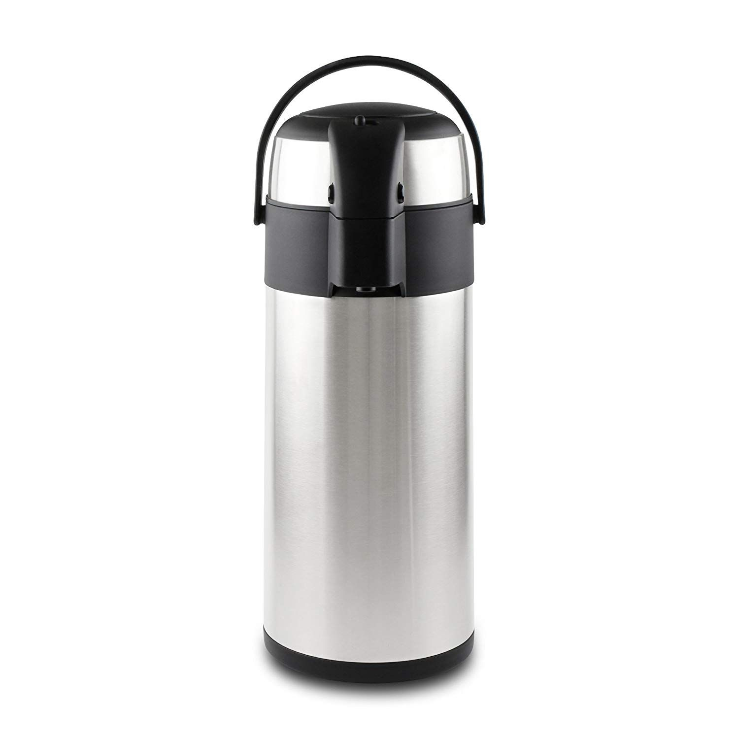 Termo de acero inoxidable con dispensador de té y café, acero inoxidable, Satin Finish, 5 litros