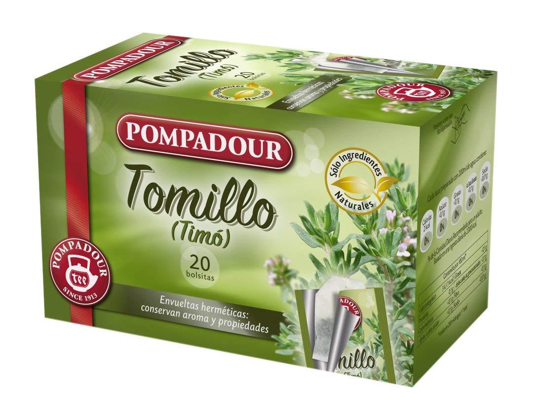 Pompadour Infusión Tomillo – 20 Bolsitas