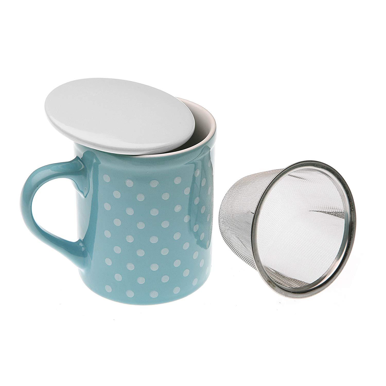 Taza Infusion Azul, 10×8,5x11cm, Gres, Té, Mug, Café