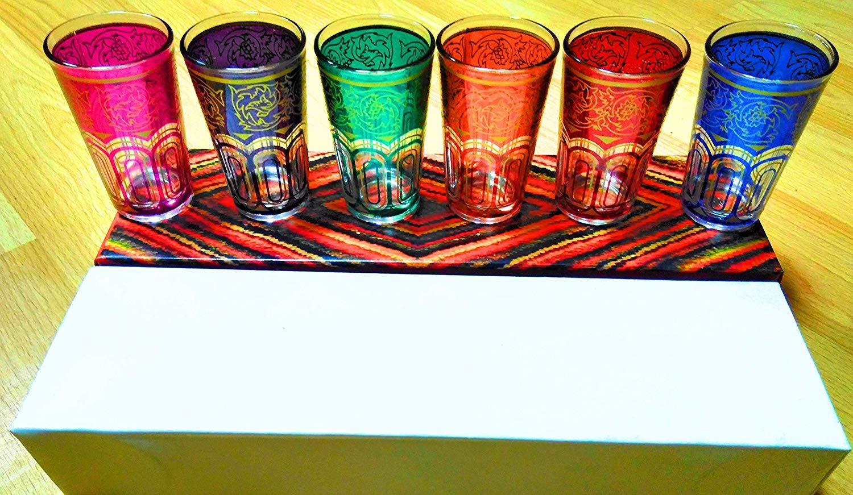 Marrakesch I vasos de té nawal de 4 multif Colores 6 unidades