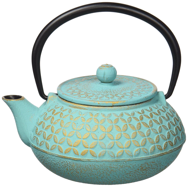 Tetera hierro con filtro inox, color Multicolor