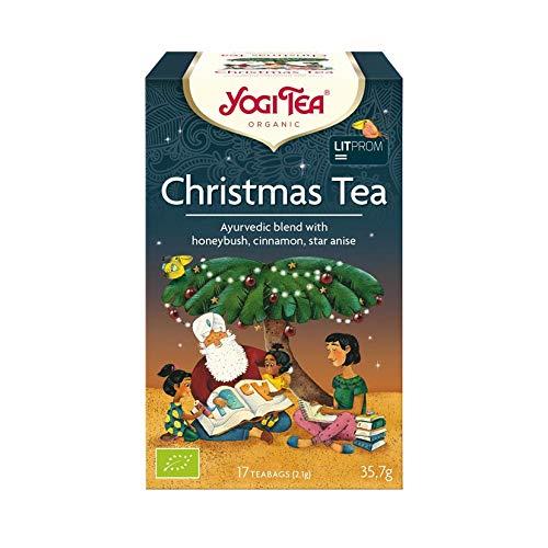 YOGI TEA – Infusión de Navidad Orgánico con Canela, Naranja, Vainilla – 17 filtros