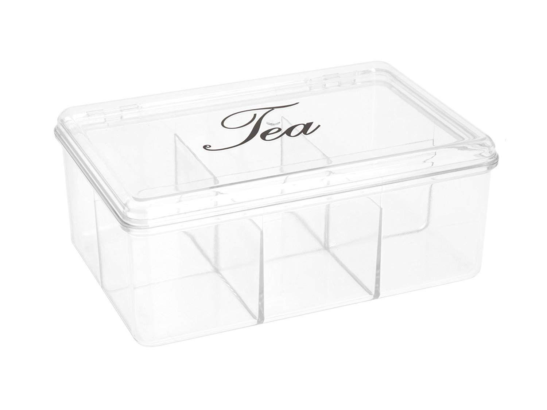 Caja Para Te Plastico Transparente