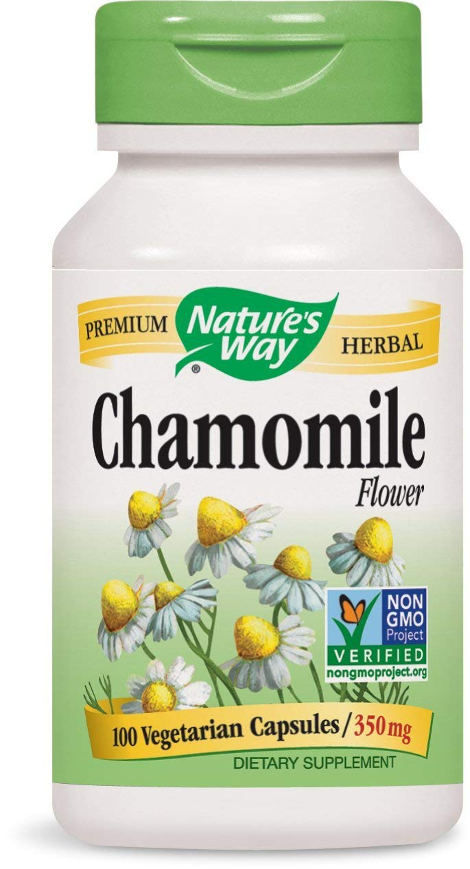 Forma de la naturaleza manzanilla flores, 350 mg, 100 Cápsulas