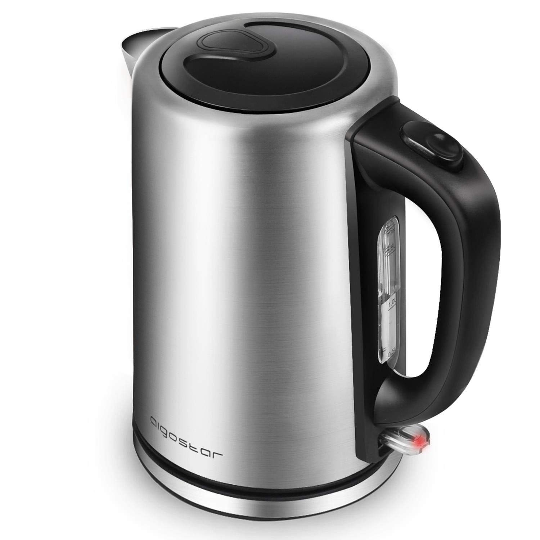 Aigostar Rob 30IGQ – Hervidor de agua de 1,7 litros, potencia de 2200 W, libre de BPA, acero inoxidable pulido