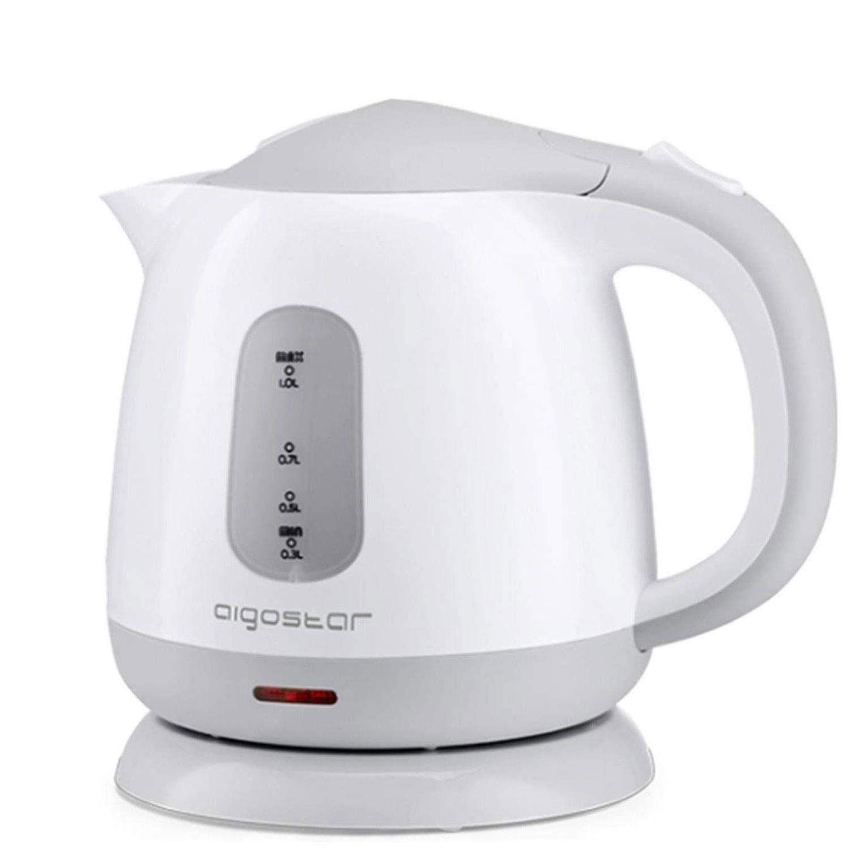 Aigostar Juliet 30HIO – Hervidor de agua compacto de 1 litro de capacidad, libre de BPA y ultra silencioso. Color gris y blanco, 1100W