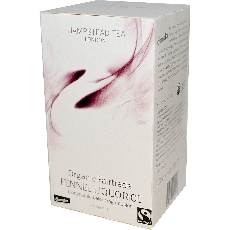 Licor de Hinojo Infusión de Equilibrio Biodinámico / Biodinámica Orgánica e Infusión Fairtrade con Hinojo y Regaliz – 2 x 20 Bolsitas de Té (60 Gramos)