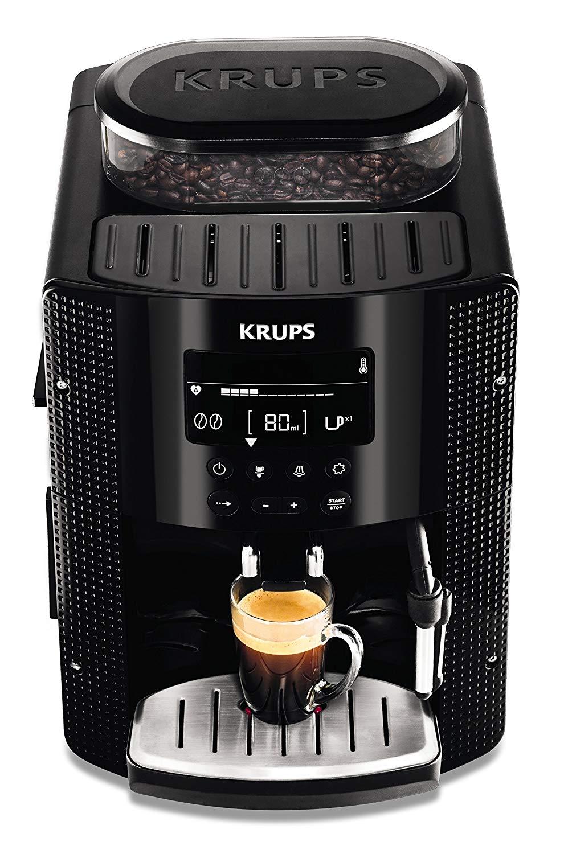 Krups EA815070 – Cafetera automática 15 bares de presión, pantalla LCD, 3 niveles de intensidad