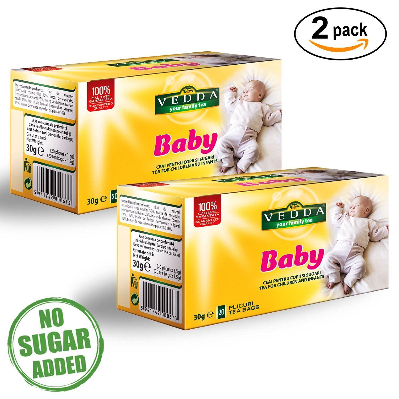 Vedda, Té para Bebé, Té de Hinojo para Bebés, Infusiones para Niños, Té para Estimular la Leche Materna