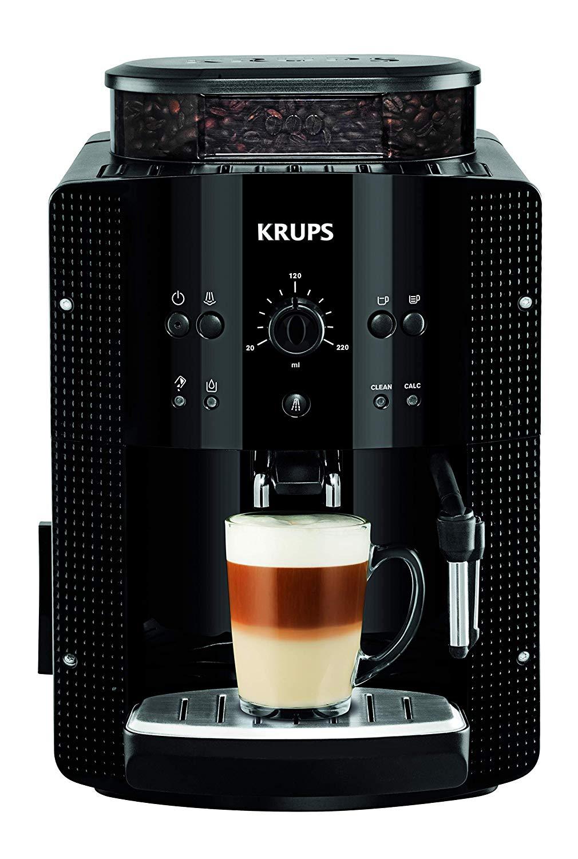 Krups Roma EA8108 – Cafetera súper-automática, 15 bares de presión, molinillo de café cónico de metal