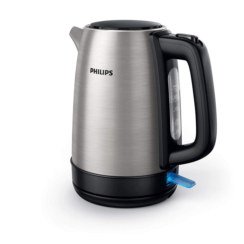 Philips Daily HD9350/90 – Hervidor de Agua, 2200 W, 17 Litros, Inox