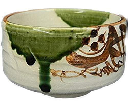 Fabricado en Japón Oribe Ware cuenco de té Domestic cuenco de té mino