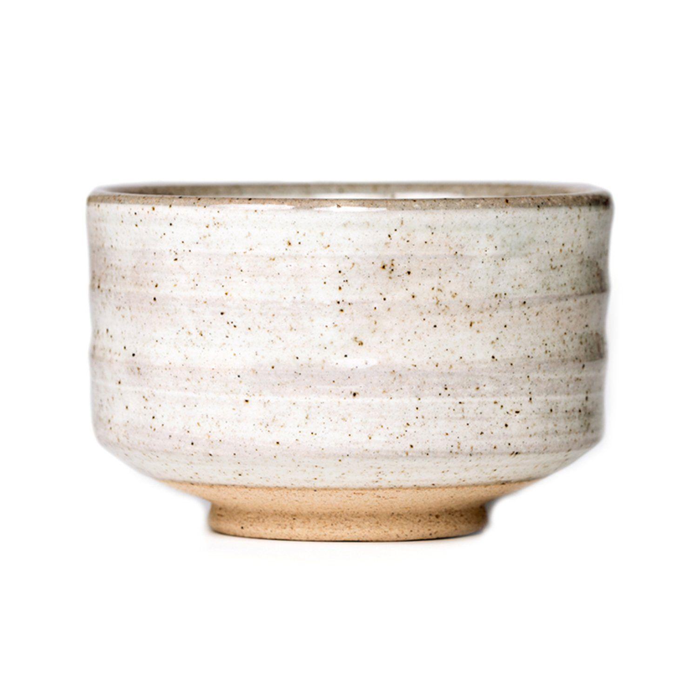 P & T Saisho Bowl, Bol de Matcha Japonés, Chawan de Cerámica para la Ceremonia de Té, Barniz Natural (300ml / 10,1oz)