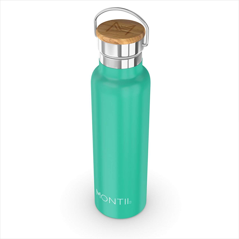 montii – 600 ml con aislamiento – botella de agua (acero inoxidable), color verde