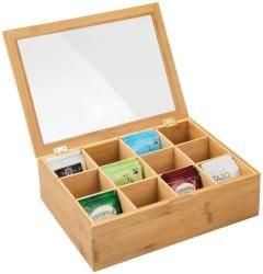 Caja para té de madera