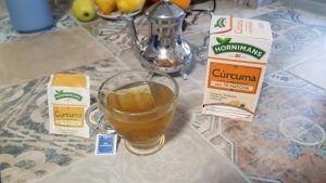 infusión de cúrcuma con té matcha de hornimans
