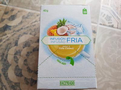 Probando infusión fría sabor piña colada de Mercadona