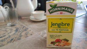 Probando Infusion de jengibre con té matcha de Hornimans