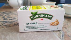 Infusion de jengibre con té matcha de Hornimans
